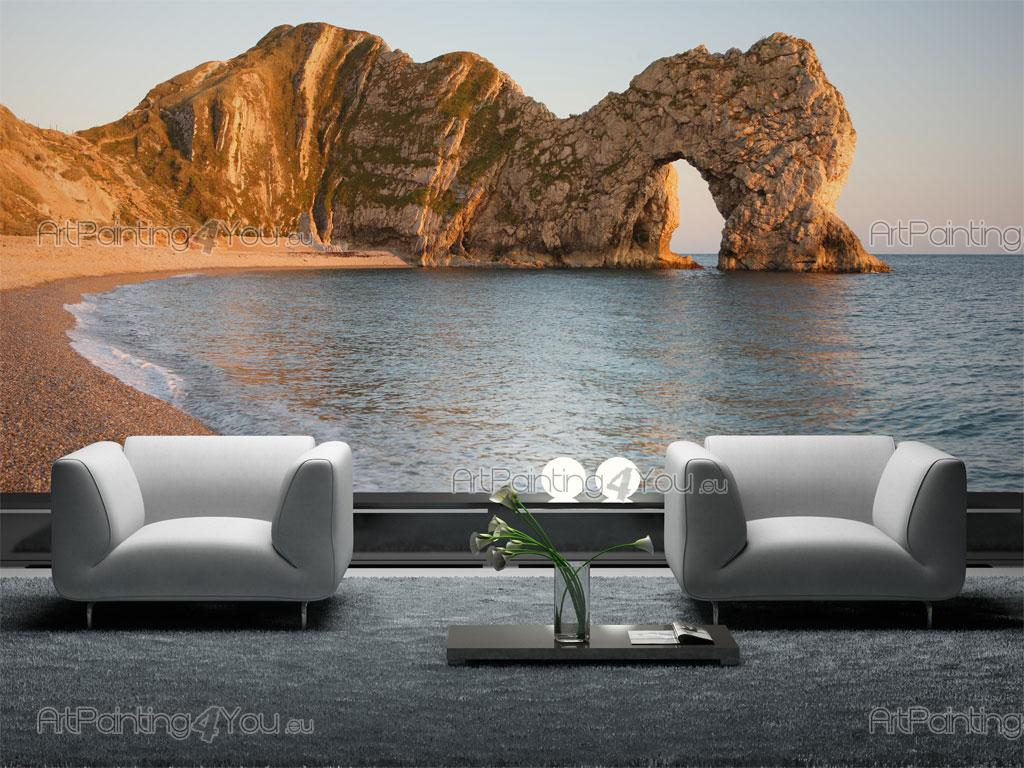 papier peint paysage poster impression sur toile plage. Black Bedroom Furniture Sets. Home Design Ideas
