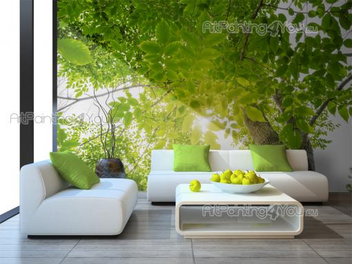fototapete landschaft poster leinwandbilder wald gr n 2514de. Black Bedroom Furniture Sets. Home Design Ideas