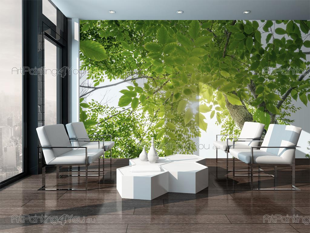 Green forest wall murals posters mcp1178en artpainting4you green forest nature wall murals with a tree with green leaves in the spring amipublicfo Choice Image