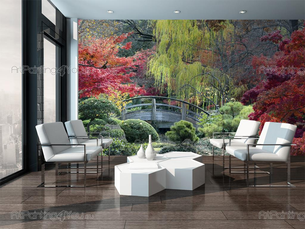 papier peint paysage poster impression sur toile jardin. Black Bedroom Furniture Sets. Home Design Ideas