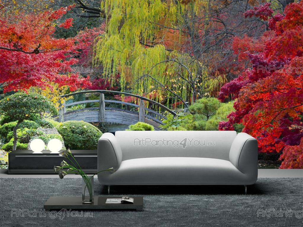 papier peint paysage poster impression sur toile jardin japonais 2606fr. Black Bedroom Furniture Sets. Home Design Ideas