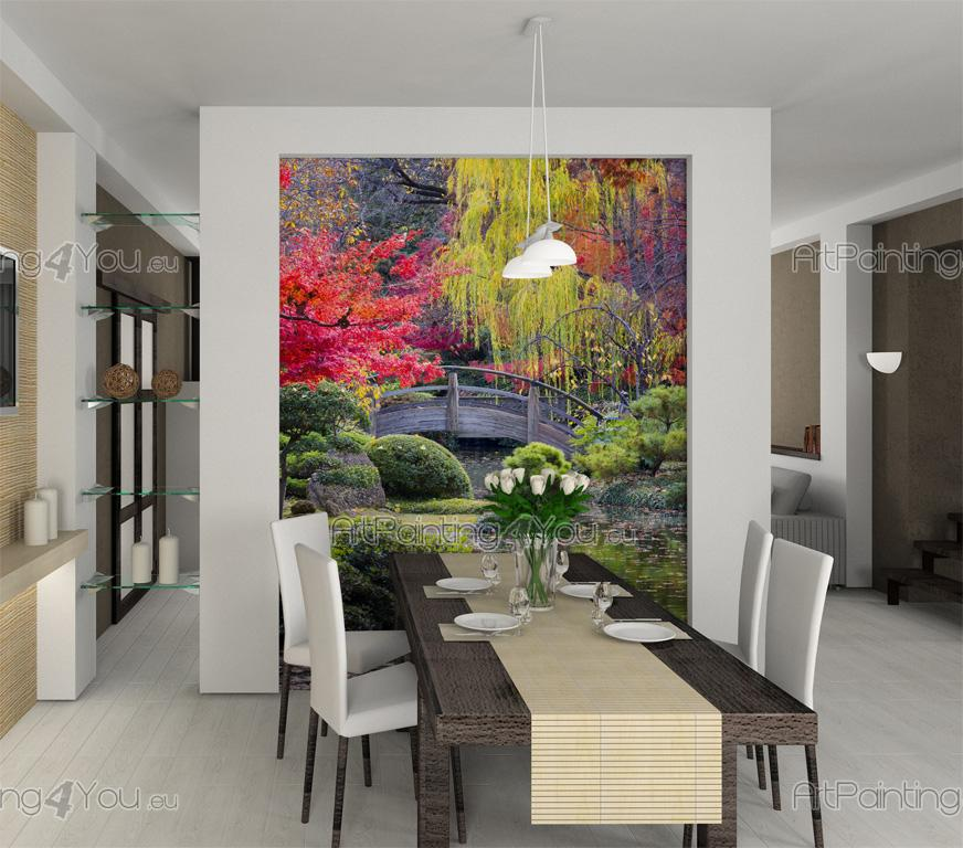 Wall murals posters japanese garden for Colocar papel mural