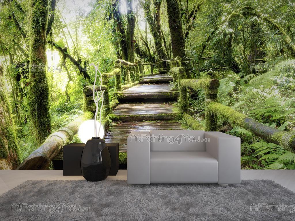 Wall murals landscape canvas prints posters forest 2615en for Papier collant pour fenetre
