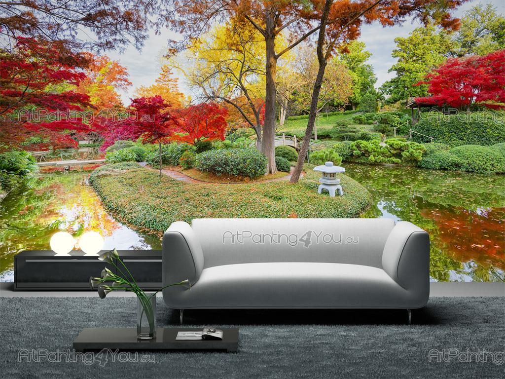 Carta da parati poster giardino giapponese for Carta parati natura