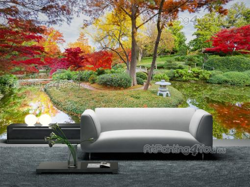 papier peint poster jardin japonais. Black Bedroom Furniture Sets. Home Design Ideas