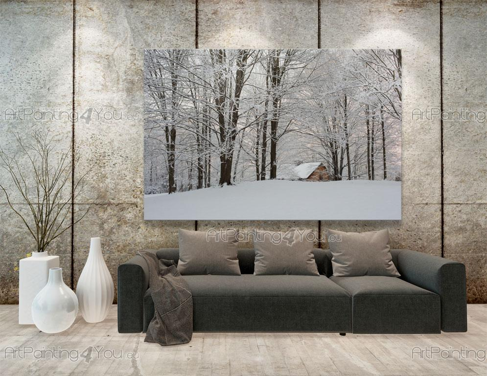 papier peint poster neige arbres. Black Bedroom Furniture Sets. Home Design Ideas