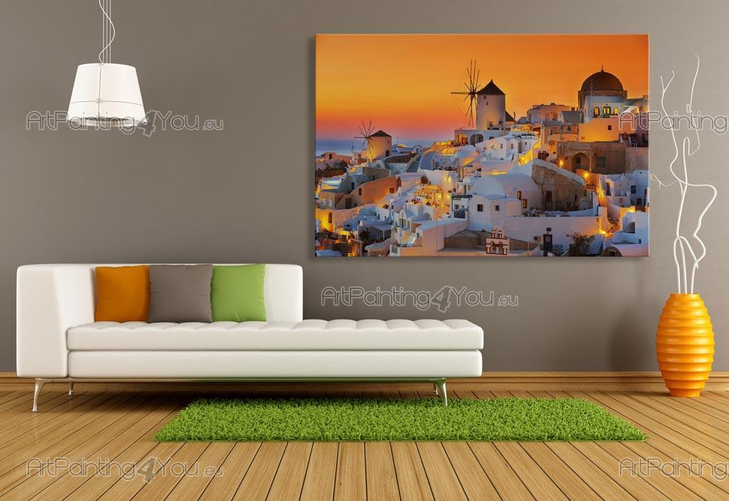 Wall Murals Posters Santorini Island Sunset Artpainting4you
