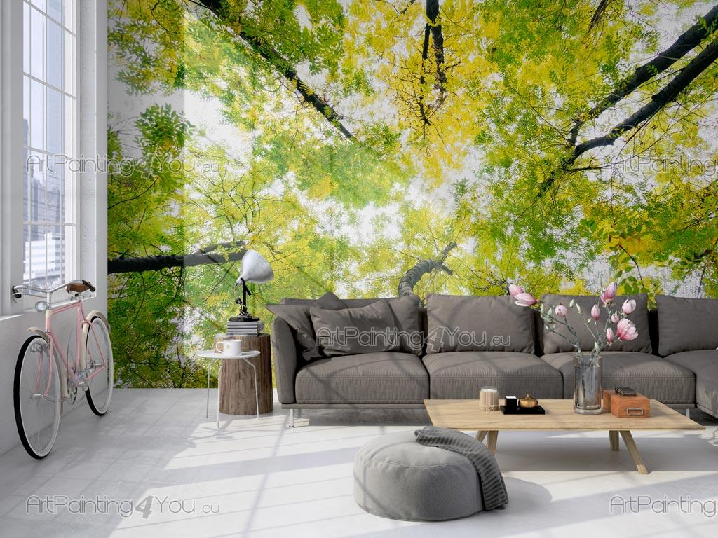 Wall Murals Posters Custom Size Trees Spring Day