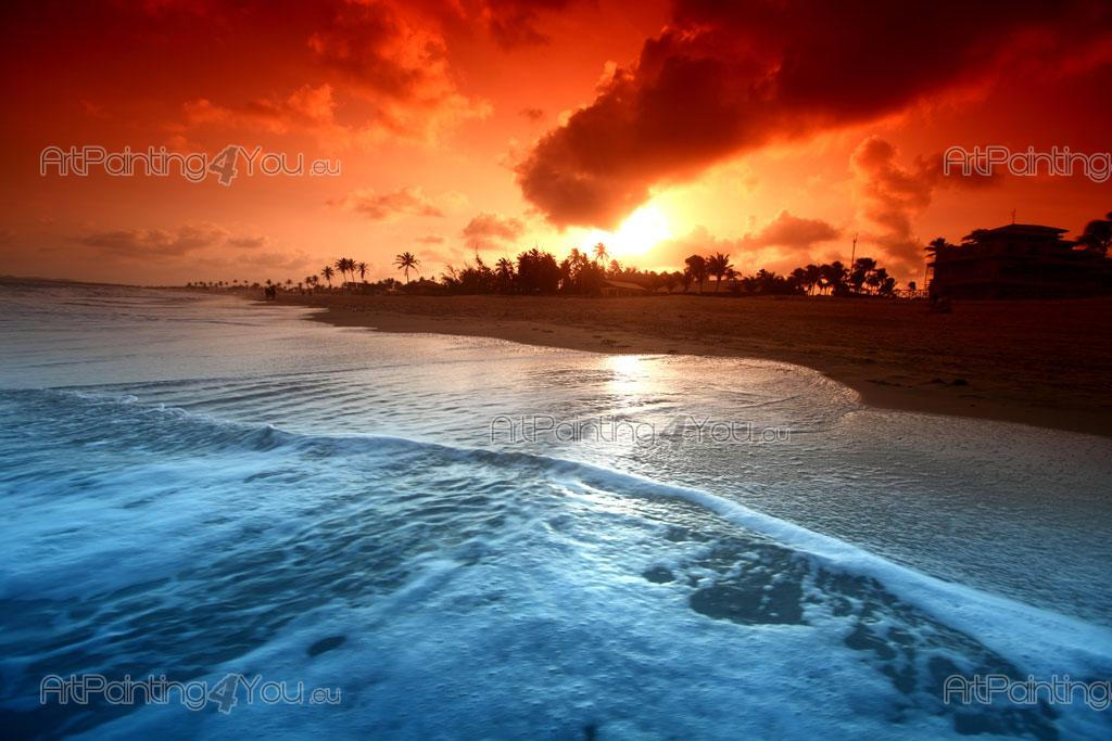 Wall Murals Posters Tropical Beach Sunset Artpainting4you