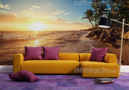 Sunset on the Beach - Sunset Wall Murals & Posters