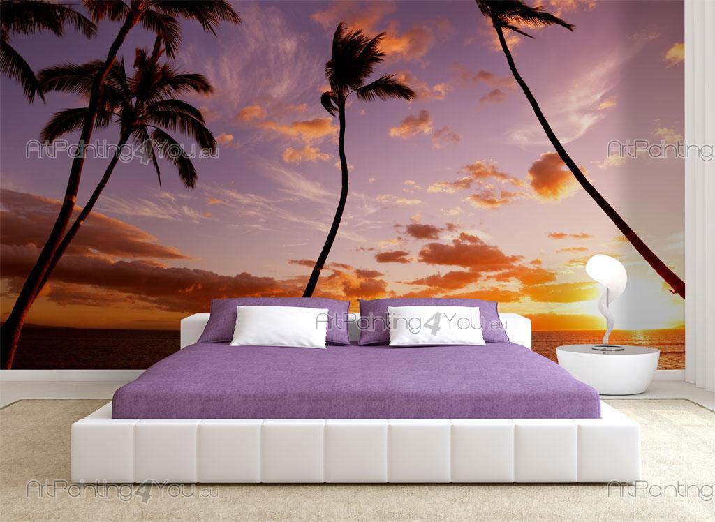 papier peint poster plage coucher de soleil. Black Bedroom Furniture Sets. Home Design Ideas