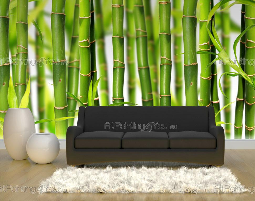 Wall murals tropical canvas prints posters bamboo 844en for Bamboo wall mural