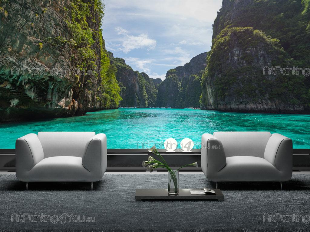 Phi phi island thailand wall murals posters mct1010en for Poster mural 4 murs