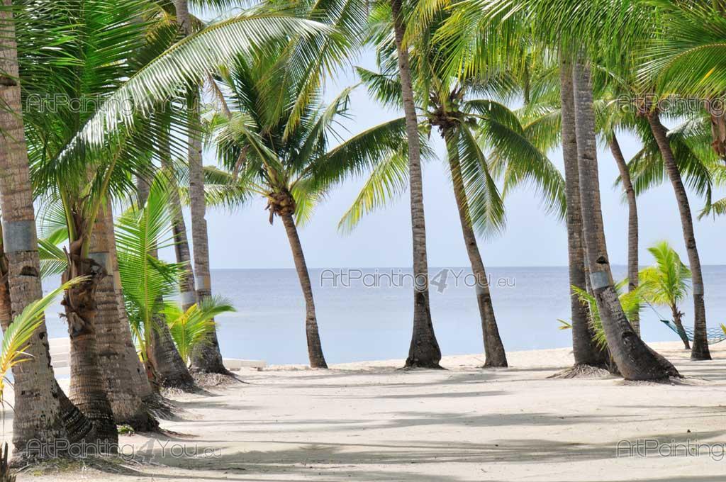 papier peint tropical poster impression sur toile palmiers 848fr. Black Bedroom Furniture Sets. Home Design Ideas