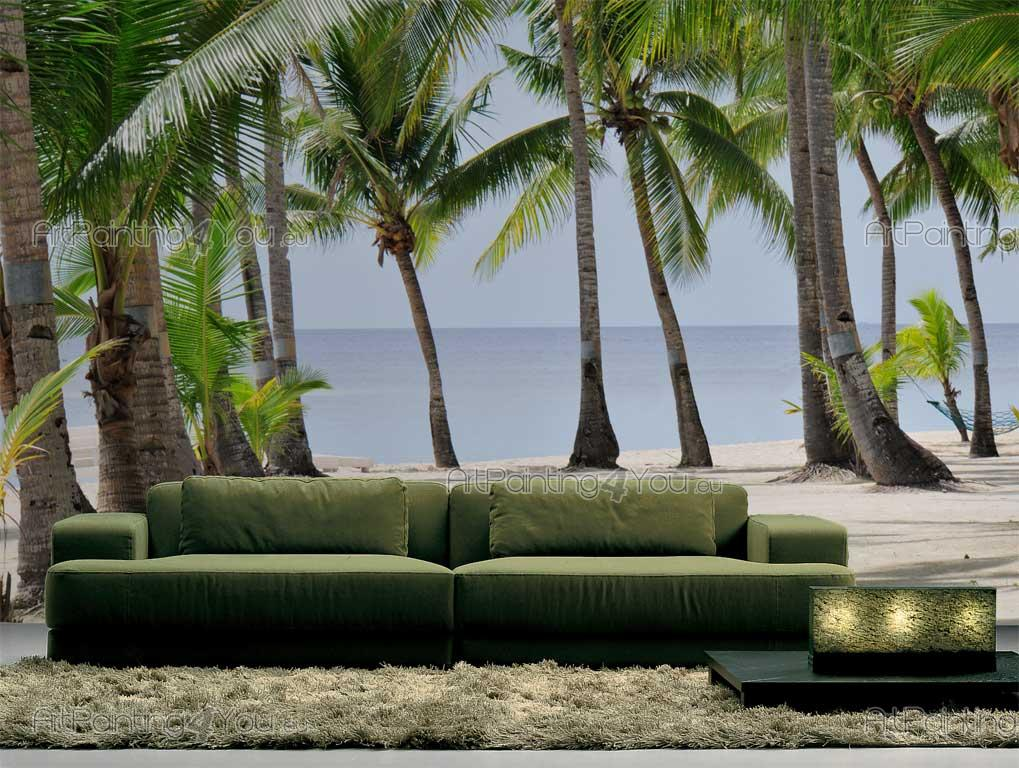 papier peint tropical poster impression sur toile. Black Bedroom Furniture Sets. Home Design Ideas