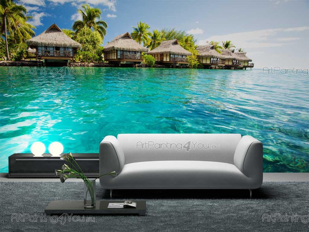 papier peint poster le bora bora. Black Bedroom Furniture Sets. Home Design Ideas