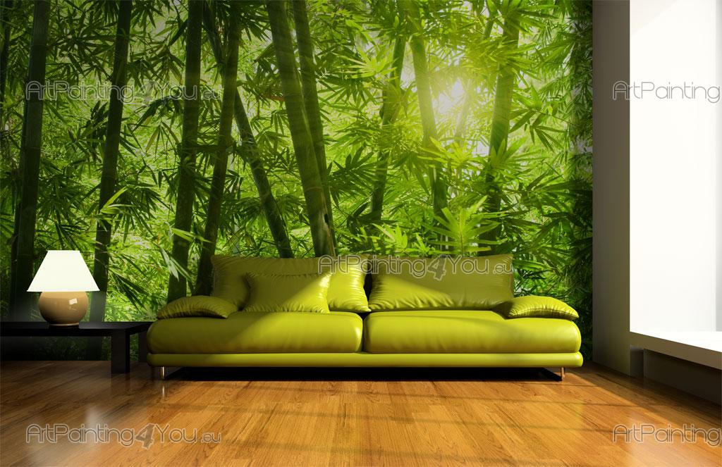 Wall murals tropical canvas prints posters bamboo for Bamboo forest mural