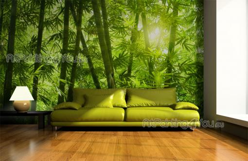 fotobehang tropisch canvas printen posters bamboe bos 1253nl. Black Bedroom Furniture Sets. Home Design Ideas