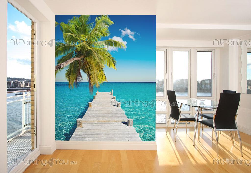 papier peint tropical poster impression sur toile plage exotique 1464fr. Black Bedroom Furniture Sets. Home Design Ideas