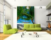 Palm Trees & Hammock - Tropical Beach Wall Murals & Posters