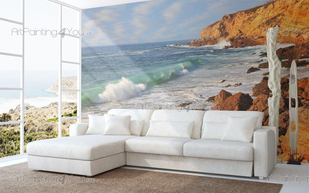 papier peint poster plage sintra. Black Bedroom Furniture Sets. Home Design Ideas