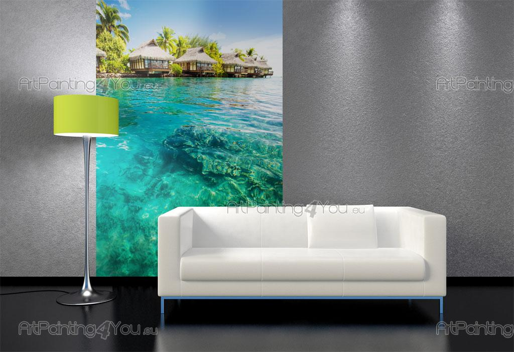 papier peint poster plage tahiti. Black Bedroom Furniture Sets. Home Design Ideas