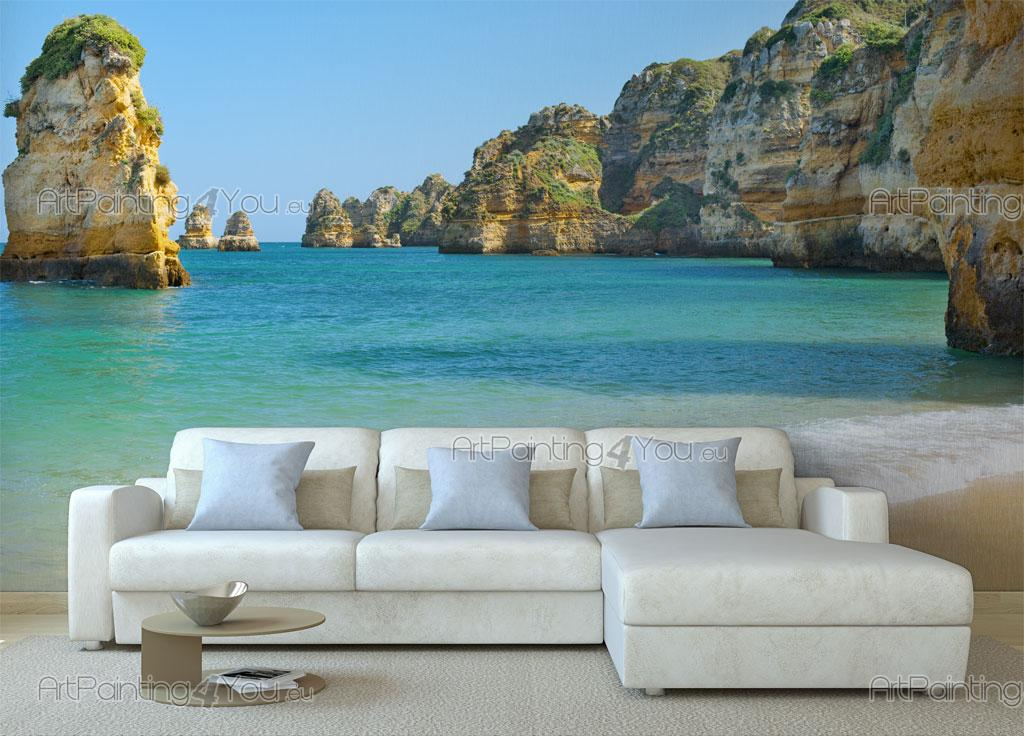 papier peint poster plage algarve. Black Bedroom Furniture Sets. Home Design Ideas