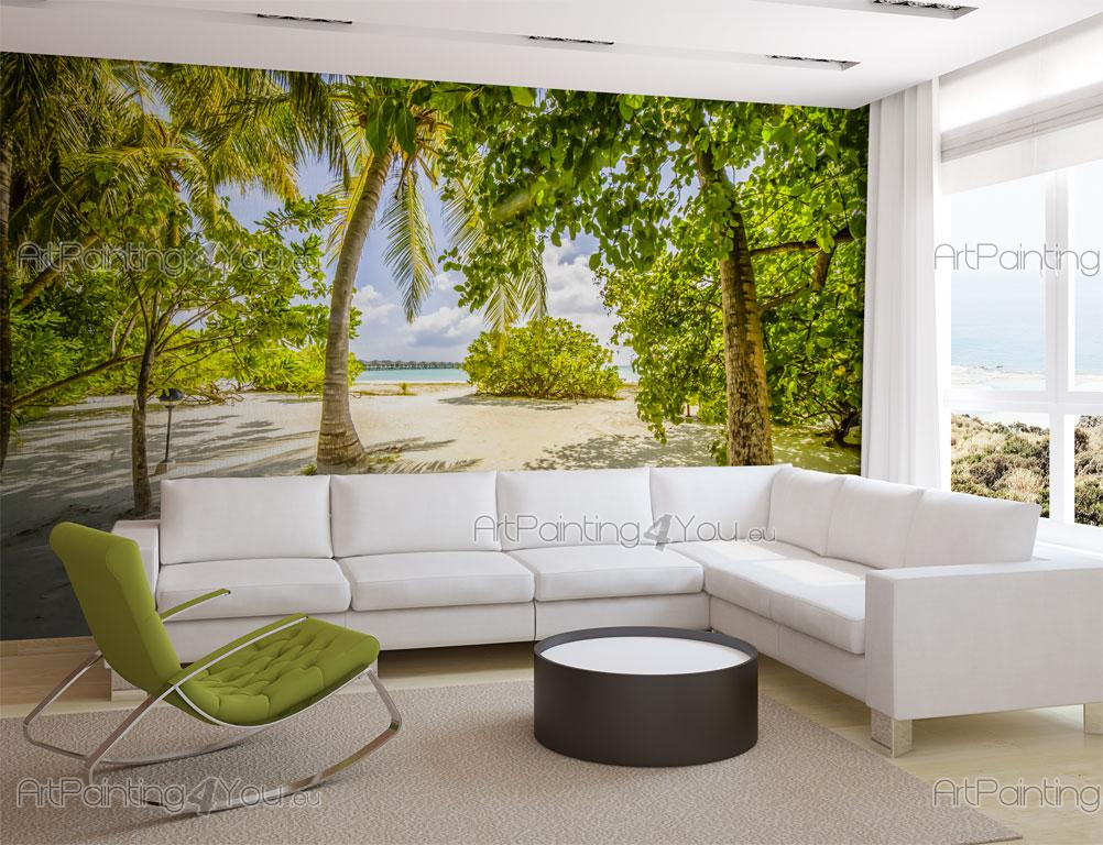 Behang Kinderkamer Strand : Fotobehang Tropisch, Canvas Printen ...