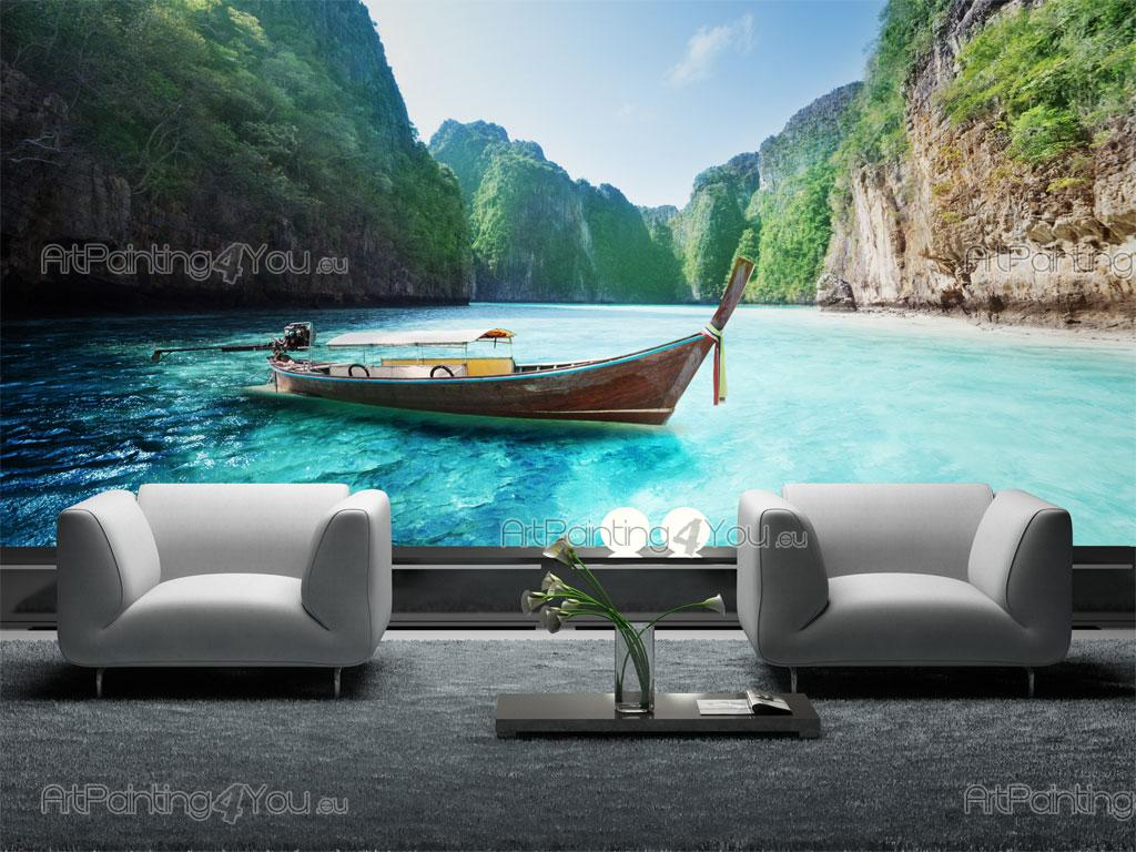 papier peint poster le phi phi tha lande. Black Bedroom Furniture Sets. Home Design Ideas