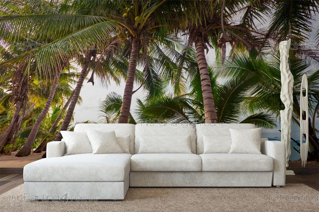 papier peint tropical poster impression sur toile palmiers 2025fr. Black Bedroom Furniture Sets. Home Design Ideas