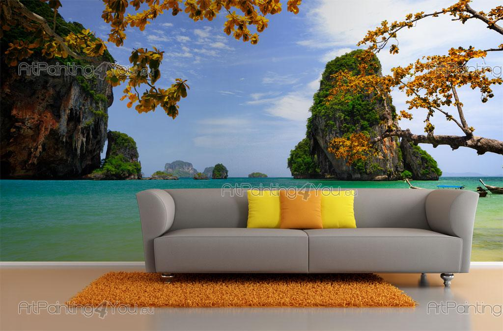 wall murals tropical canvas prints posters island