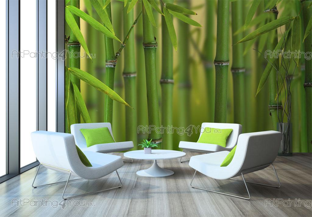Wall murals tropical canvas prints posters bamboo for Bamboo forest wall mural