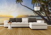 Sunset on the Beach - Tropical Beach Wall Murals & Posters
