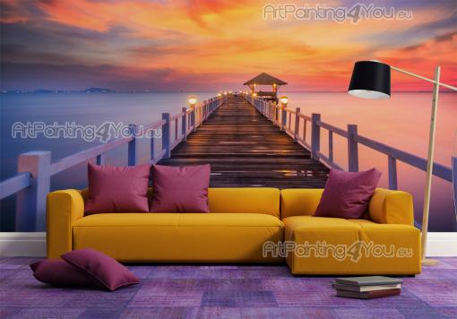 Tropical Island Sunset - Tropical Beach Wall Murals & Posters
