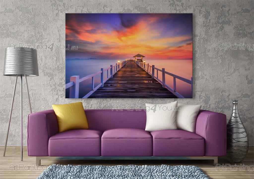 Wall Murals & Posters Tropical Island Sunset