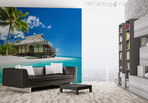 Tahiti Turquoise Beach - Tropical Beach Wall Murals & Posters
