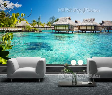 fototapeten poster strand tahiti mct1097de. Black Bedroom Furniture Sets. Home Design Ideas