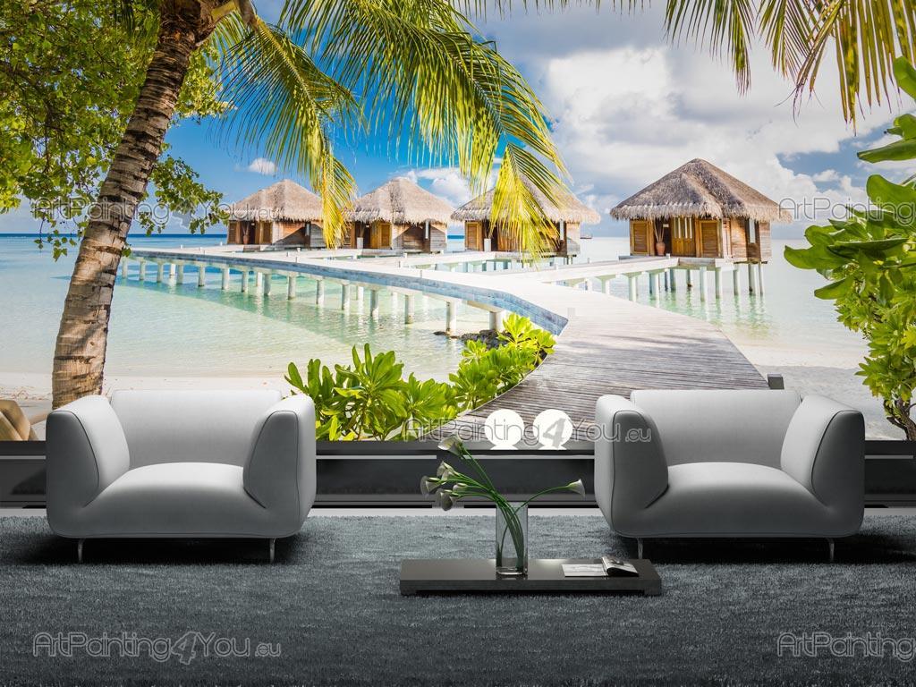 papier peint poster le maldives. Black Bedroom Furniture Sets. Home Design Ideas