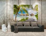 Tropical Beach Wall Murals & Posters - The Maldives are an island nation that every newlywed couple wants to travel to, even though they can't afford the stay! A stunning wall mural is a go...