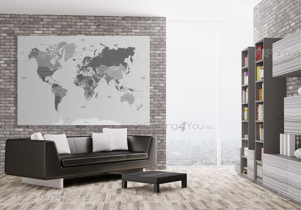 World Map   Black And White Wall Murals U0026 Posters ... Part 87