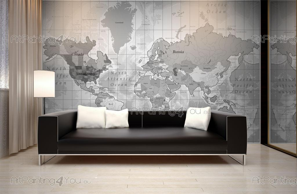 Carta da parati poster mappa mondo for Carta parati mondo