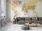 World Map and Travel Wall Murals & Posters - Do you enjoy the sight of a world map? Are you looking for a colourful wallpaper that is also discreet for your living room or office? Go for our wall...