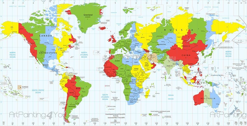 Carta da parati poster mappa mondo - Mappa del mondo contorno ks2 ...
