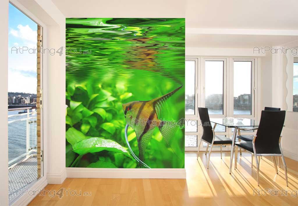 Wall Murals & Posters Fish Aquarium (MCVM1002en) | ArtPainting4You.eu
