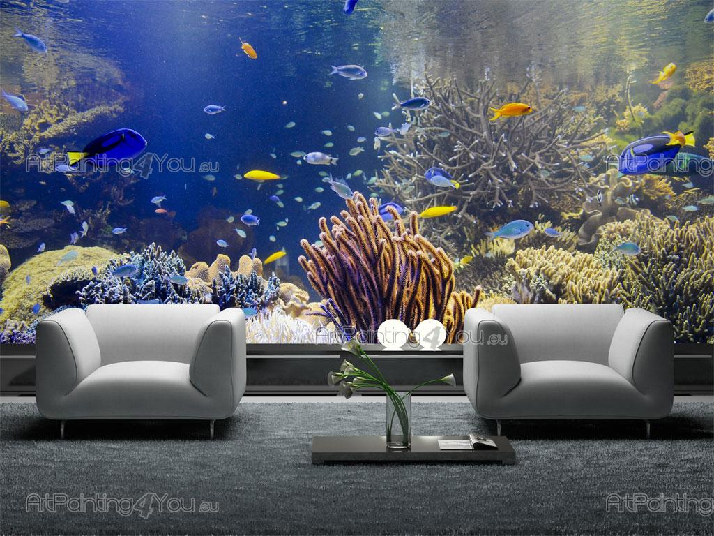Underwater wallpaper murals best wallpaper hd for Belly button bears wall mural