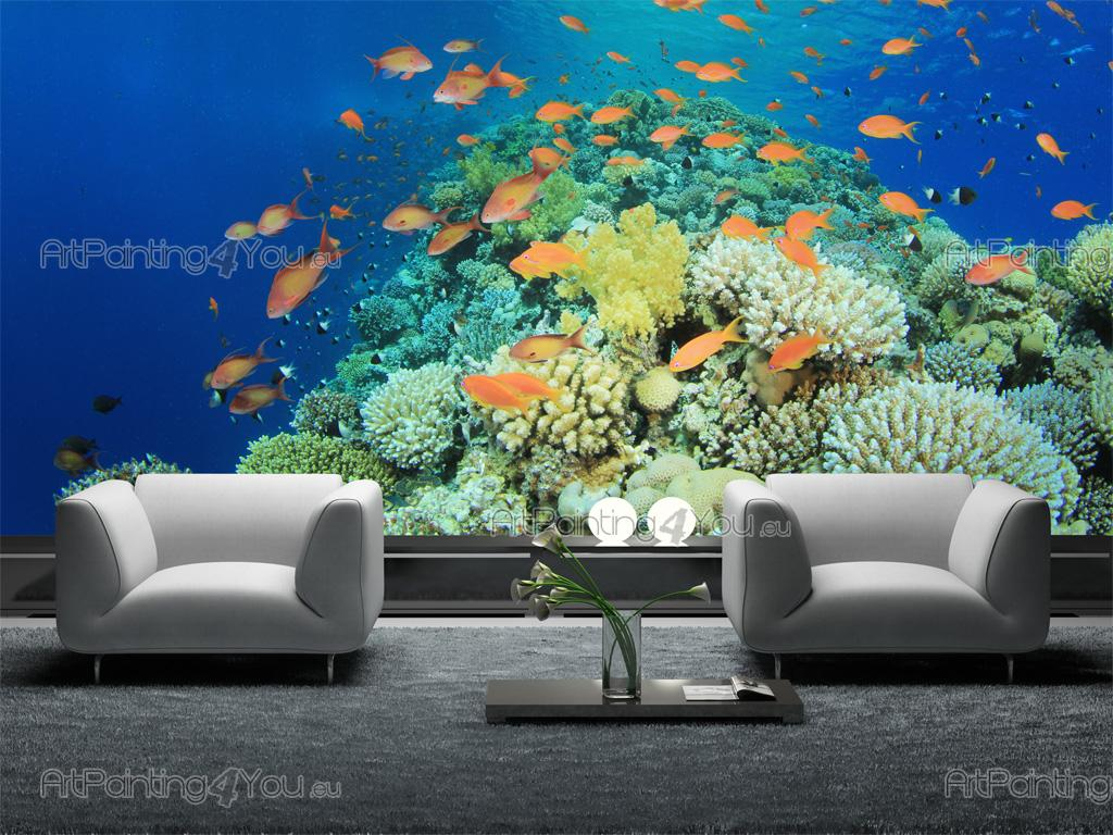 wall murals sea life canvas prints amp posters underwater wall mural canvas print