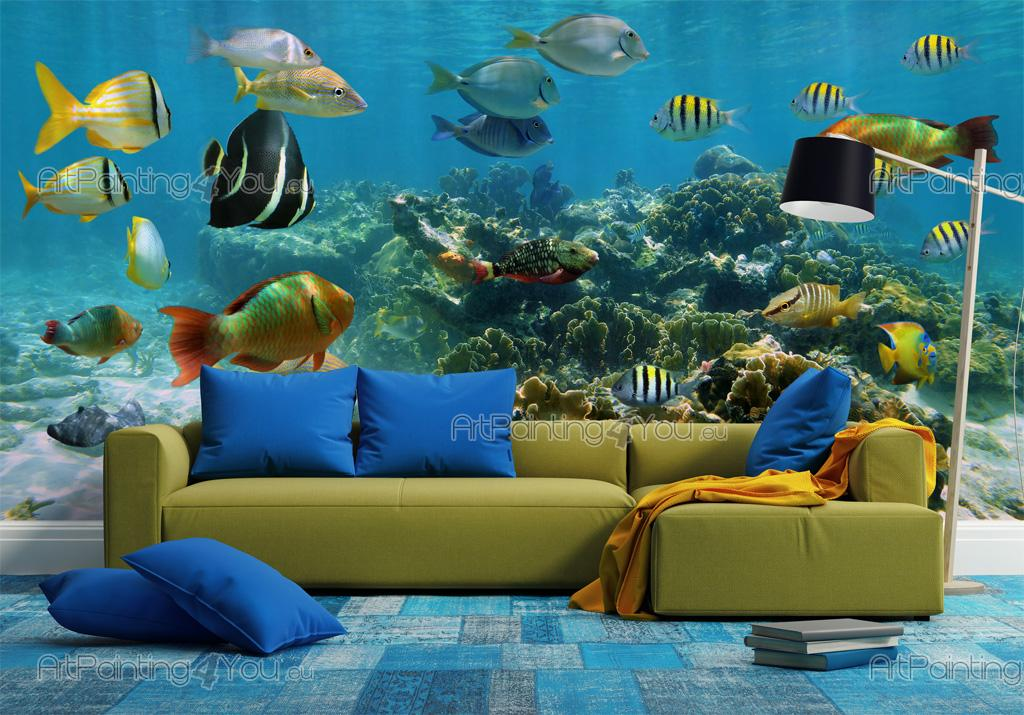 wall murals amp posters underwater life mcvm1026en forest nature trees wall mural for your home buy at