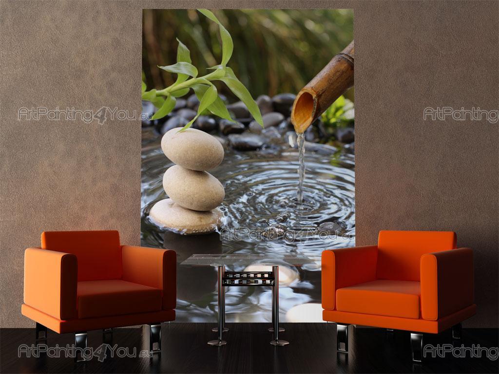 wall murals zen spa canvas prints posters zen stones bamboo 647en. Black Bedroom Furniture Sets. Home Design Ideas