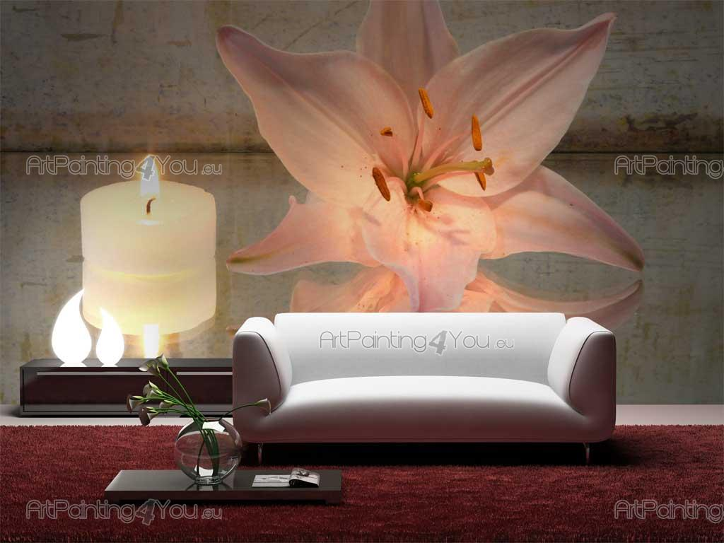 Wall murals zen spa canvas prints posters orange lily for Poster mural geant zen