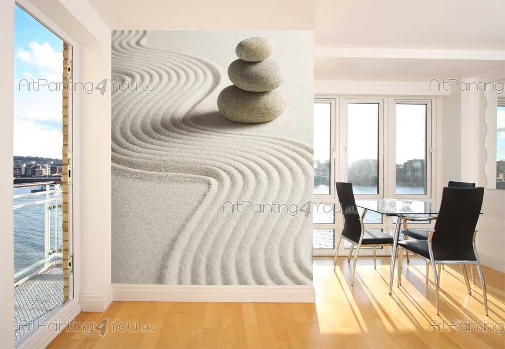 Wall murals zen spa canvas prints posters zen stones for Canvas wall mural